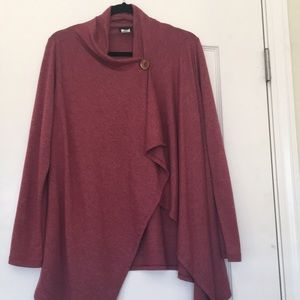 Sweaters - Light weight button wrap